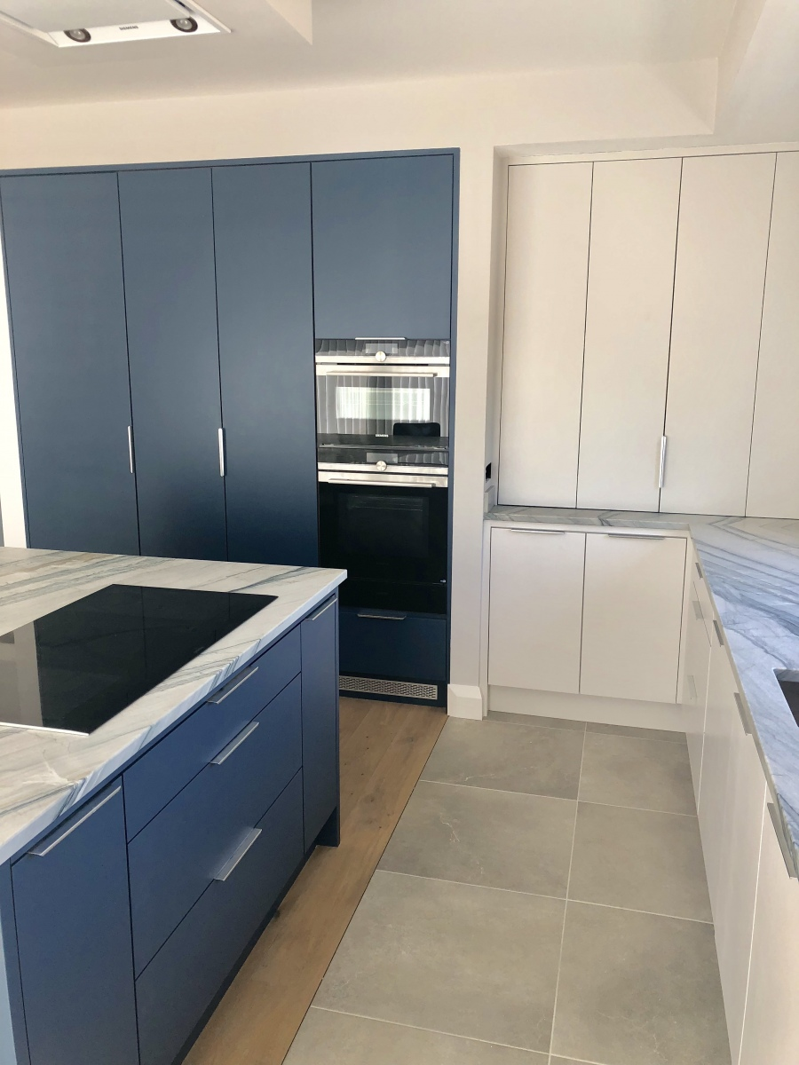 Hand Painted Flat Kitchen